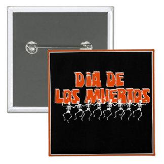 Bailando Para Dia De Los Muertos Chapa Cuadrada 5 Cm