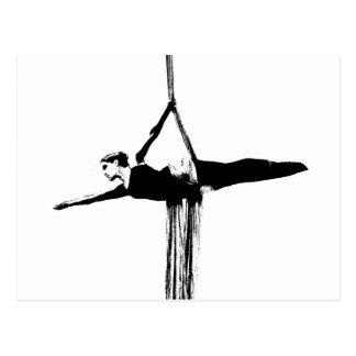 Bailarín aéreo de las sedas postal