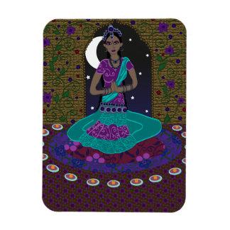 Bailarín clásico indio imán flexible