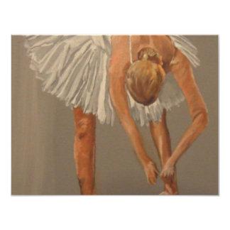 Bailarín de ballet 1 invitación 10,8 x 13,9 cm
