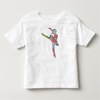 Bailarín de ballet colorido camiseta de bebé