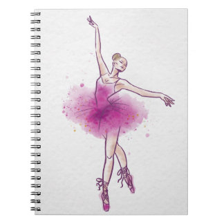 bailarín de ballet de la mujer cuaderno