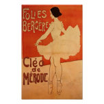 Bailarín de ballet de Nouveau del arte de la baila Posters