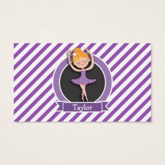 Bailarín de ballet del chica; Bailarina; Púrpura y Tarjeta De Negocios