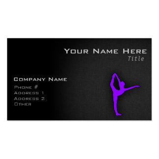 Bailarín de ballet púrpura violeta tarjeta personal