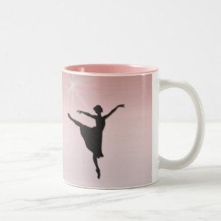 Bailarín de ballet taza de dos tonos