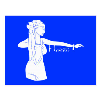 Bailarín de Hawaii Hula de la hawaiana Postales