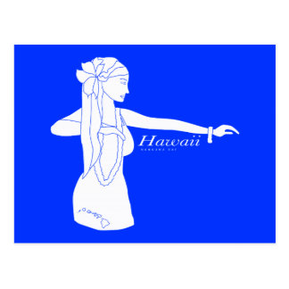 Bailarín de Hawaii Hula de la hawaiana Tarjeta Postal