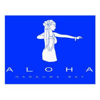 Bailarín de Hawaii Hula de la hawaiana Tarjetas Postales