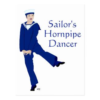 Bailarín de Hornpipe de los marineros Postal