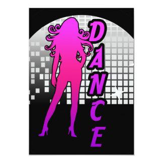 Bailarín de la bola de discoteca invitación 12,7 x 17,8 cm