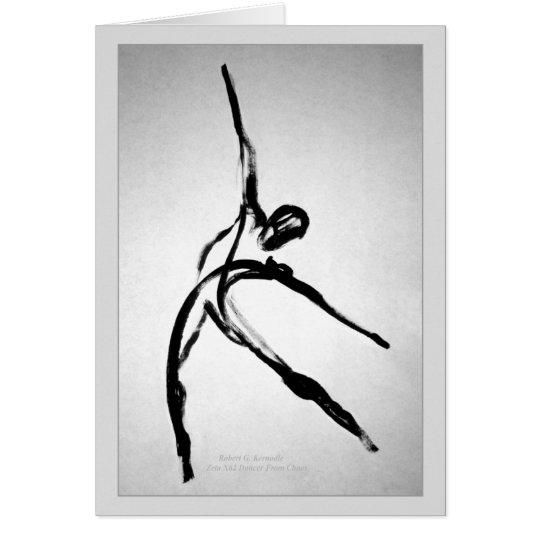 Bailarín de sexo masculino moderno tarjeta de felicitación