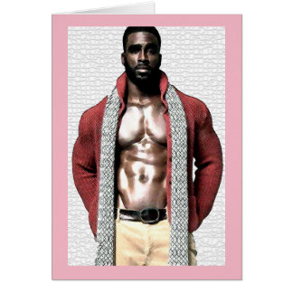 Bailarín de sexo masculino tarjeta