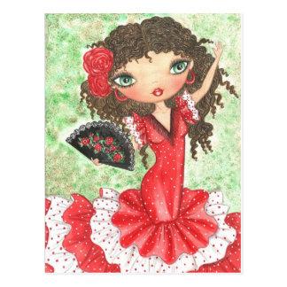 Bailarín del flamenco con la fan postal