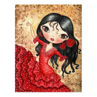 """Bailarín del flamenco "" Postal"