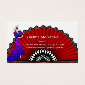 Bailarín del flamenco tarjeta de negocios