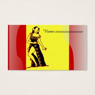 Bailarín del flamenco tarjeta de visita