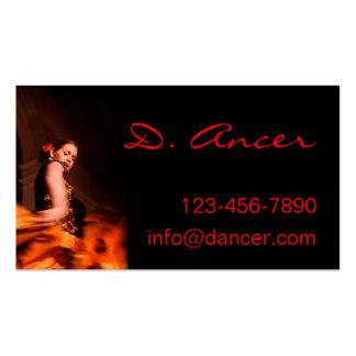 bailarín del flamenco tarjeta personal