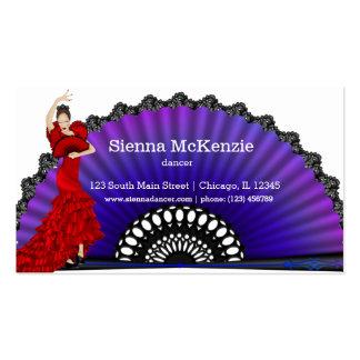Bailarín del flamenco plantilla de tarjeta de negocio