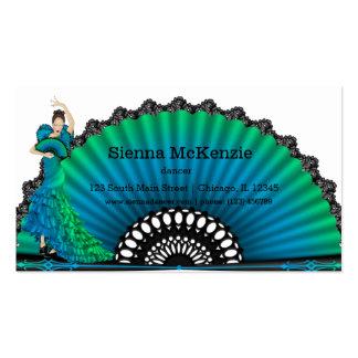Bailarín del flamenco tarjetas de visita