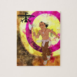 Bailarín del indio del nativo americano puzzle