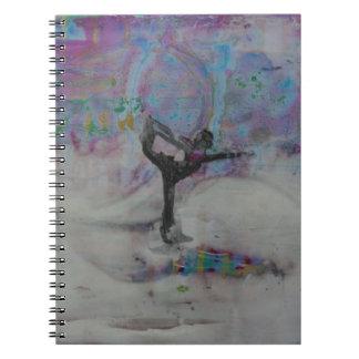 Bailarín en la nieve - cuaderno