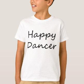 Bailarín feliz (texto negro de la escritura) camiseta