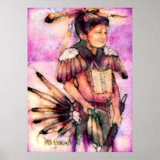 Bailarín indio americano póster