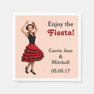 Bailarín lindo del flamenco (personalizado) servilletas de papel