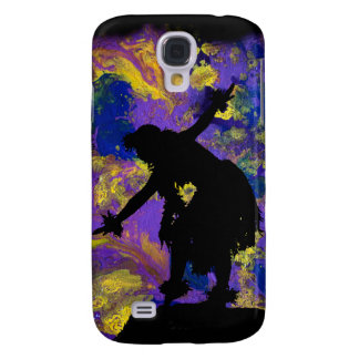 Bailarín púrpura de Hula de la galaxia Funda Para Galaxy S4