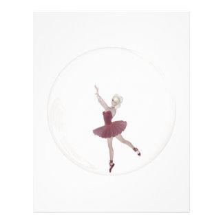 bailarina 3 de la burbuja 3D Tarjetas Informativas