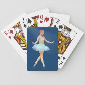 Bailarina agraciada con personalizable rojo del baraja de cartas