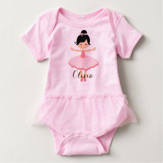 Bailarina asiática personalizada linda body para bebé