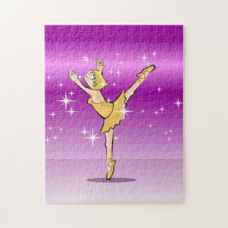 Bailarina de Ballet danzando con glamour y belleza Puzzle