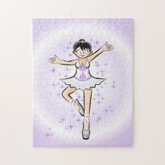 Bailarina de Ballet mostrando su pirueta magistral Puzzle