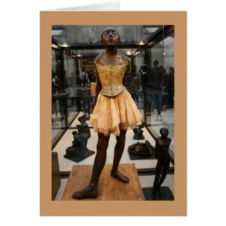 Bailarina de bronce tarjeta