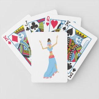 Bailarina de la danza del vientre baraja de cartas bicycle