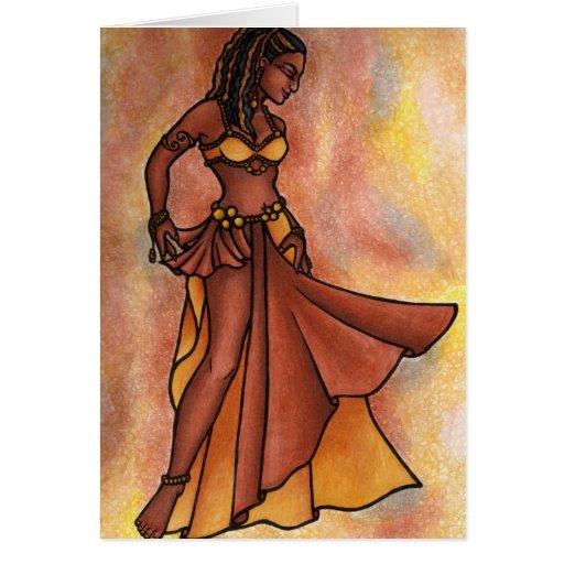 Bailarina de la danza del vientre de la hermana de felicitacion