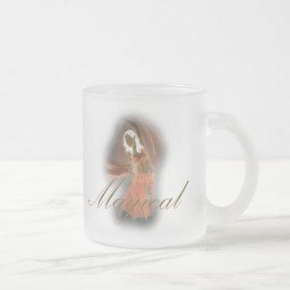 Bailarina de la danza del vientre - mágica taza de cristal esmerilado