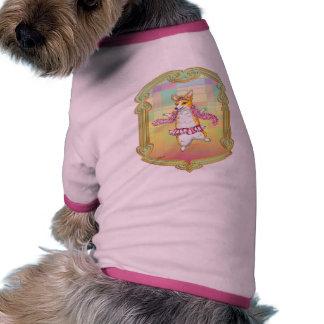 Bailarina del Corgi Galés del Pembroke Camisetas De Perro