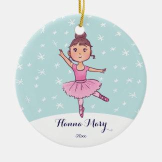 Bailarina del navidad del ornamento el | del