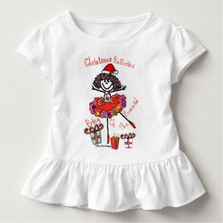 ¡Bailarina del navidad - traiga en los presentes! Camiseta De Bebé