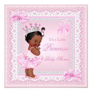 Bailarina del rosa del chica de la princesa fiesta invitación 13,3 cm x 13,3cm