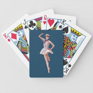 Bailarina en personalizable del traje del marinero cartas de juego