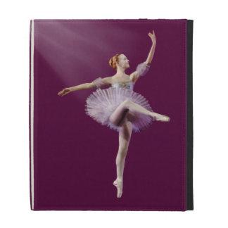 Bailarina en personalizable púrpura y blanco