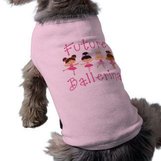 Bailarina futura camiseta de perro