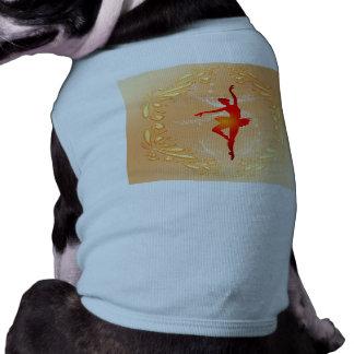 Bailarina hermosa camiseta sin mangas para perro