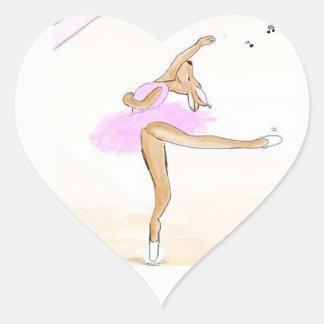 Bailarina Kängaru bailada pegatina herz