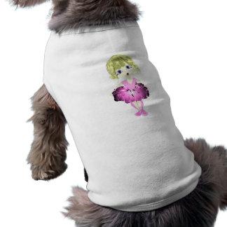 Bailarina linda en arte rosado del tutú camiseta de perrito