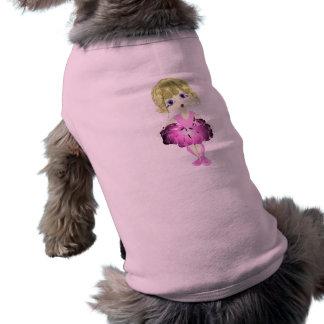 Bailarina linda en tutú rosado camisas de perritos